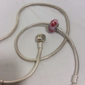 Pandora Flowers for You Glass Charm